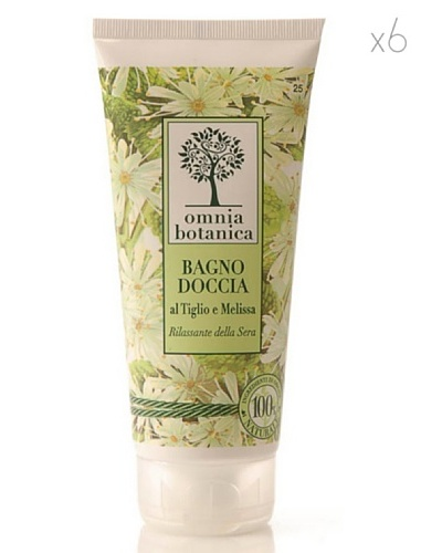 Omnia Botanica Set 6 Gel de Ducha Relajante de Linden y Melissa