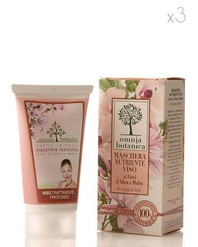 Omnia Botanica Set 3 Mascarilla Facial Nutritiva de Flor de Altea y de Malvas