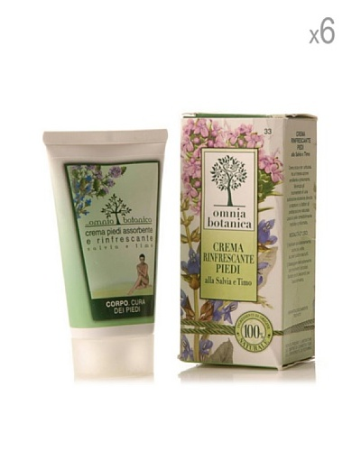 Omnia Botanica Set 6 Piezas De Crema De Pies Refrescante De Salvia Y Tomillo 75 Ml Ud.