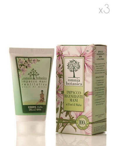 Omnia Botanica Set 3 Crema de Manos Regeneradora de Malvas