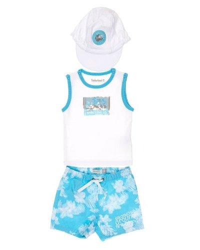 Timberland Conjunto Camiseta + Bermudas + Gorro