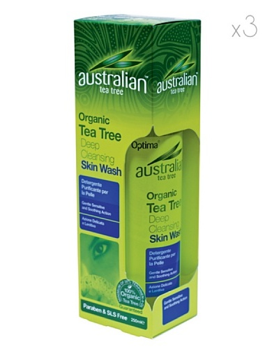 Dr.Organic Set 3 Unidades Limpiador Facial Purificante Árbol del Té 250 ml (u)