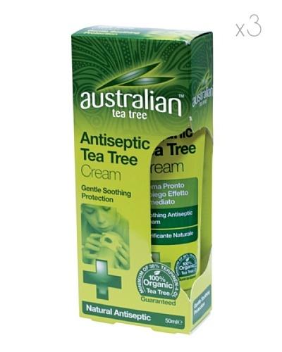 Dr.Organic Set 3 Unidades Crema Antiséptica del Árbol del Té 50 ml (u)