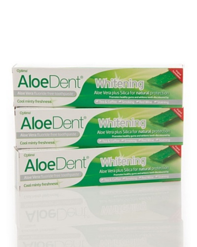 Dr.Organic Set 3 Unidades Dentífrico Aloedent Blanqueante 100 ml (u)