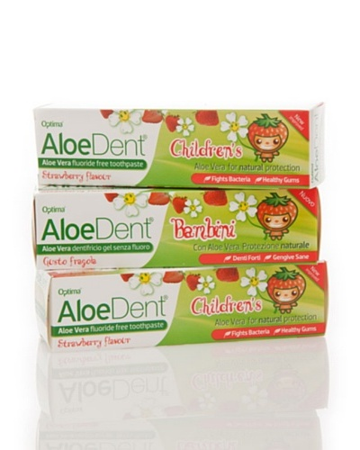Dr.Organic Set 3 Unidades Dentífrico Aloedent Junior 75 ml (u)