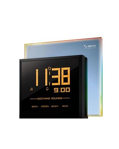 Oregon Scientific RM901 - Reloj con proyector, luces de colores, 4 sonidos relajantes, color negro