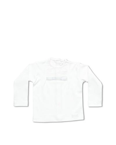 Pasito a Pasito Camiseta Plisada Blanco 6 Meses
