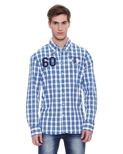 Camisa Etowah Azul / Blanco