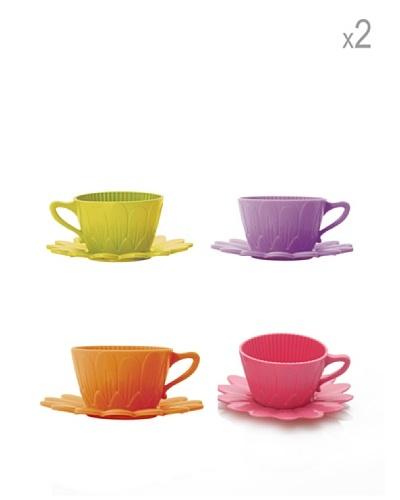 Pavoni Set 8 Tazas Y Platos Para Cupcakes Multicolor