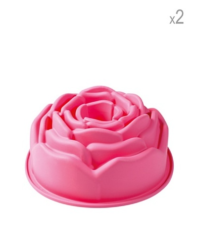 Pavoni Set 2 Moldes Para Pasteles Rosas