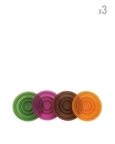 Pavoni Set 12 Posa Vasos De Silicona Antideslizantes