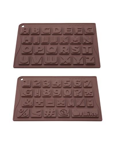 Pavoni Set 2 Moldes De Números Y Letras Para Chocolatinas