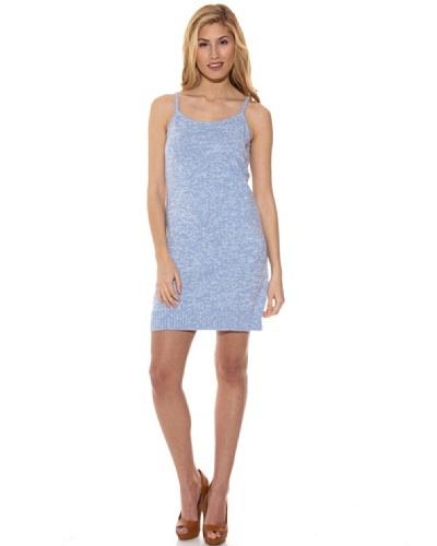 Peace & Love Vestido Liso Azul