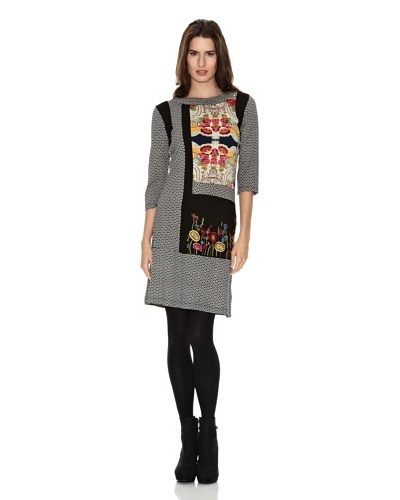 Peace & Love Vestido Patchwork