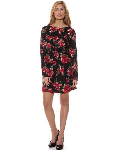 Peace & Love Vestido Estampado Rosas