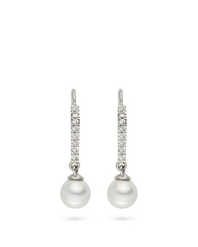 Pearls of London Pendientes Tiberia Blanco