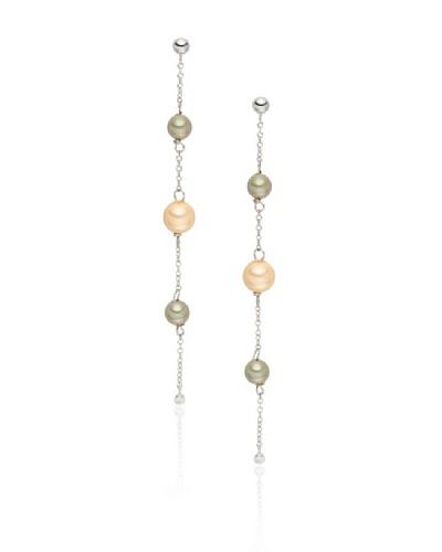 Pearls of London Pendientes Faustine Verde