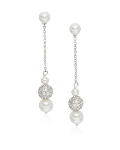 Pearls of London Pendientes Zarah Blanco