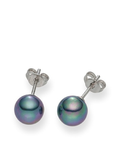 Pearls of London Pendientes Agnella Antracita