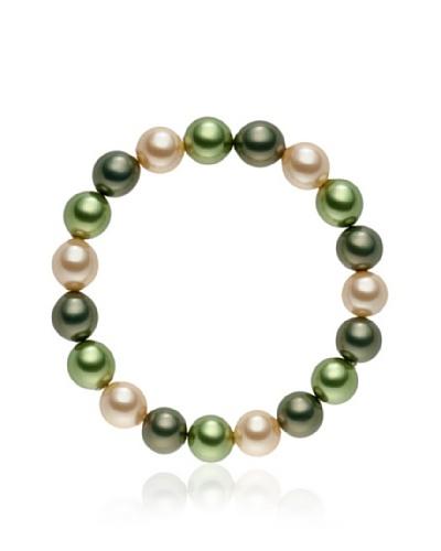 Pearls of London Pulsera Lucianna Verde / Jade / Champagne