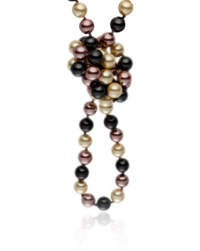 Pearls of London Collar Regina Gris / Crema / Canela