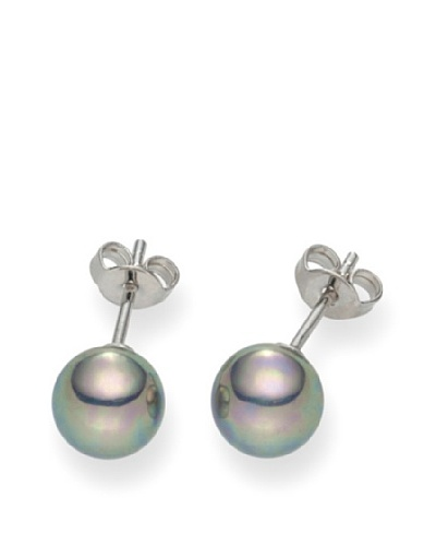 Pearls of London Pendientes Adrina Gris / Plata