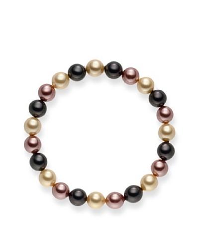 Pearls of London Pulsera Renata Gris / Crema / Canela