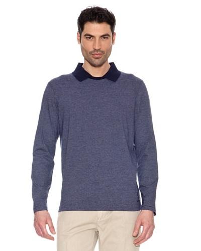 Pedro Del Hierro Camiseta Cuello Polo Azul