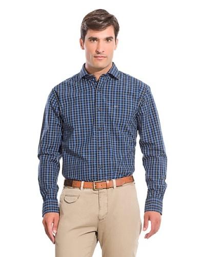 Pedro del Hierro Camisa Non Iron Sport Cuadros Azul