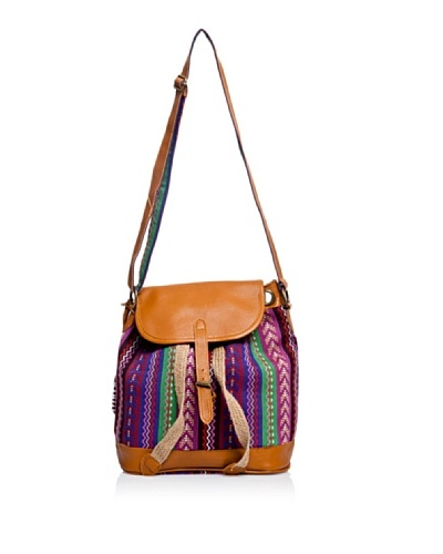 Pepe Jeans London Bolso Nura Bag Marrón / Violeta