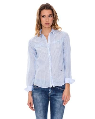 Pepe Jeans London Camisa Amita Azul / Blanco