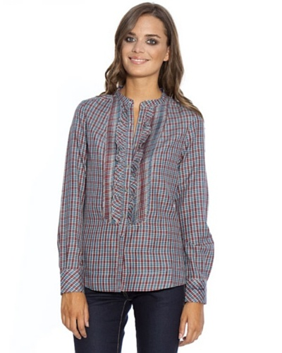 Pepe Jeans London Camisa Stephanie Azul / Marrón