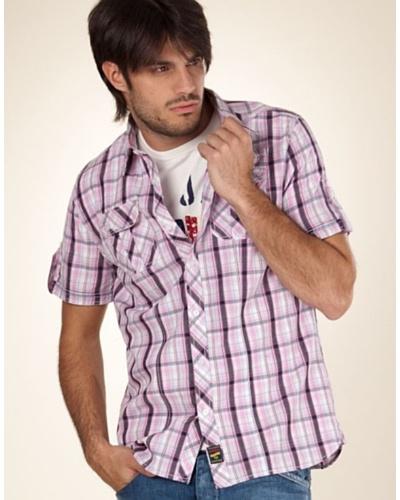 Pepe Jeans London Camisa Albany Marino / Rosa