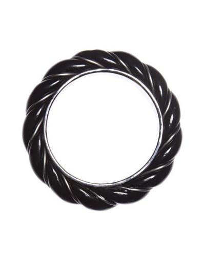 Pertegaz Pulsera Esclava Twister Negro