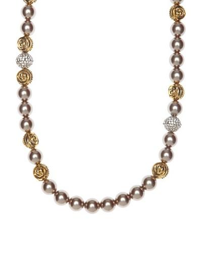 Pertegaz Collar Perlas Anudadas Camel