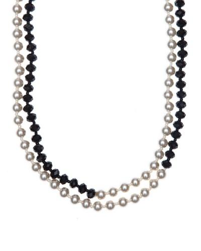 Pertegaz Collar Valentina Blanco / Negro