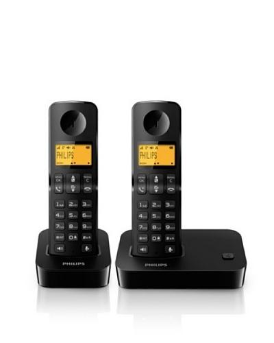 Philips Teléfono dúo manos libres negro  D2002B/23