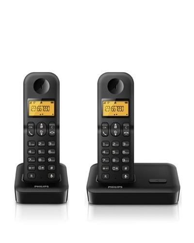 Philips Teléfono Dúo negro D1502B