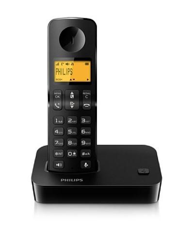 Philips Teléfono single manos libres negro  D2001B/23