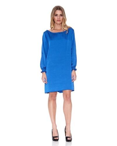 Poète Vestido Pecas Azul