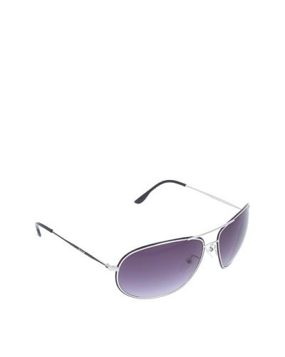 Police S8637 0K07 - Gafas de sol para hombre estilo envolvente, color negro/plateado, talla única