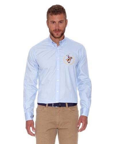 Polo Club Camisa Fitted Azul Celeste