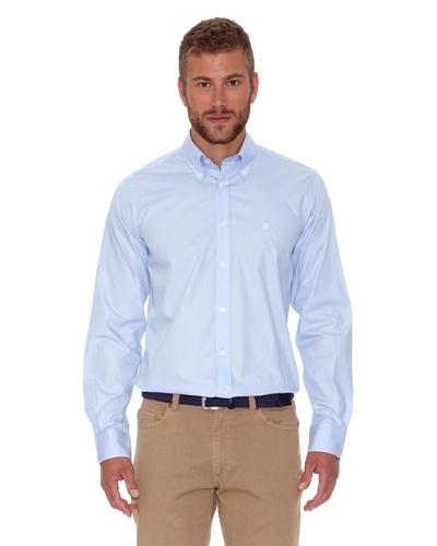 Polo Club Camisa Fitted Escudo Azul Celeste