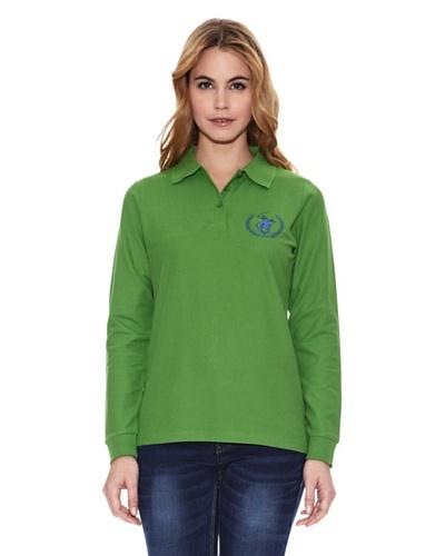 Polo Club Polo Custom Fit Ml Logo Verde