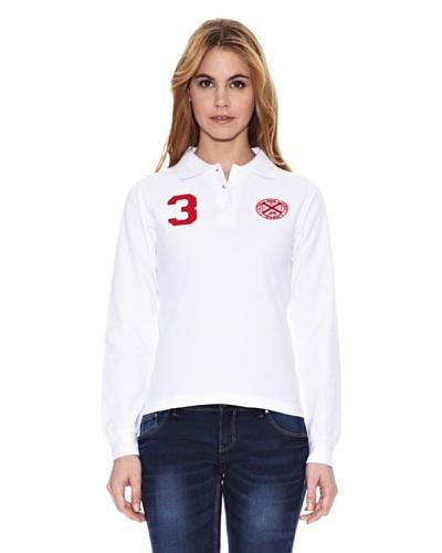 Polo Club Polo Custom Fit Number Blanco