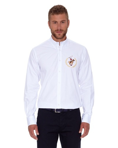 Polo Club Camisa Fitted Blanco