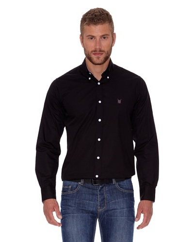 Polo Club Camisa Fitted Escudo Negro