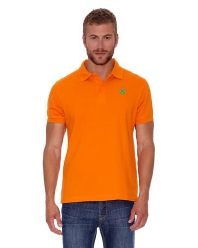 Polo Club Polo Custom Fit Escudo Liso Naranja