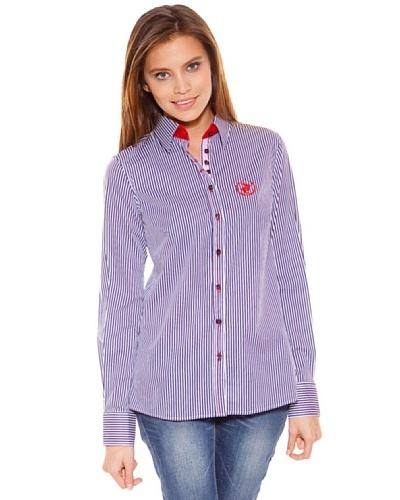 Polo Club Camisa Manga Larga Señora Entallada Raya