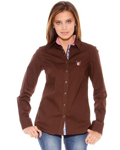 Polo Club Camisa Manga Larga Señora Entallada Lisa